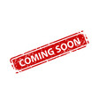 coming soon sign sticker stamp texture vector image vector image