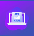crm system software icon design vector image
