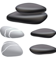 dark pebbles vector image vector image