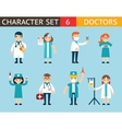 Doctor and Nurse Characters Madical Icon Set vector image vector image