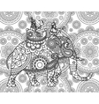 Doodle Indian maharajah vector image vector image