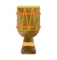drawing brasilian drum percussion bongo vector image