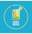 drinks menu cocktail mojito icon vector image vector image