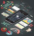 elements infographics flat design vector image