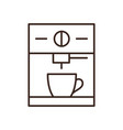 espresso machine isolated linear icon vector image vector image