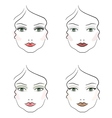 Evening make up vector image