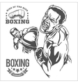 Fight between two boxers - monochrome vector image vector image