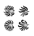 Fire Rooster set vector image