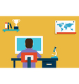 Flat concept of online learning vector image vector image