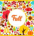 flat fall seasonal greeting vector image vector image