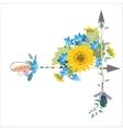 Flower arrangement with sunflowers kolokolchiklm vector image vector image