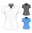 Formal short sleeved blouses for lady vector image vector image