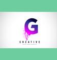 g purple letter logo design with liquid effect vector image vector image