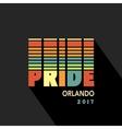 Gay Pride 2017 poster rainbow spectrum flag vector image vector image