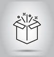 gift box icon in flat style magic case on vector image vector image