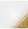 golden glitter abstract corner background tinsel vector image vector image