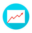 growth graph flat circle icon vector image