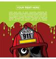 halloween background design - fire fighter zombie vector image vector image