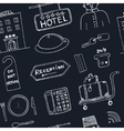 hotel seamless pattern doodle sketch vector image vector image
