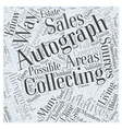 How To Do Autograph Collecting The Inexpensive Way vector image vector image