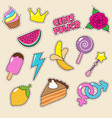 ice cream princess crown and candy lollipop vector image vector image