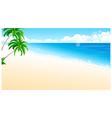 idyllic beach palm tree