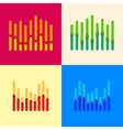 Infographics set with overlapping bars and dotted vector image