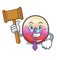 judge jelly ring candy mascot cartoon vector image vector image