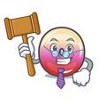 judge jelly ring candy mascot cartoon vector image vector image
