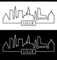 lille skyline linear style editable file vector image vector image