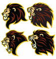 lion logo mascot collection premium set vector image