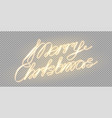 Meery christmas glowing lettering for xmas