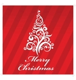 merry christmas greeting card red color vector image