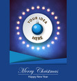merry christmas happy new year a4 template vector image vector image