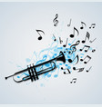 music abstract background with trumpet vector image vector image