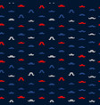 mustache seamless pattern november holiday vector image