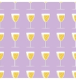 New year pattern with a glass of champagne on vector image vector image