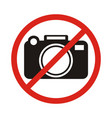 no photographing sign icon flat vector image vector image