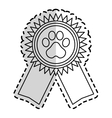 pet competition design vector image