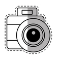 photo camera picture vacation travel shadow vector image vector image