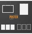 Poster Mockup Set Realistic EPS10 vector image vector image