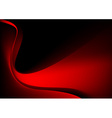 Red glowing graphic wave on black background vector image vector image
