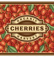 Retro Cherry Harvest Label vector image vector image