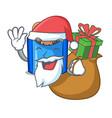 santa with gift fried falafel served at the mascot vector image