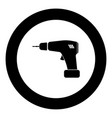 screwdriver icon black color in circle vector image vector image