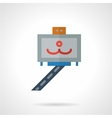 Selfie stick icon flat style vector image