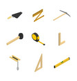 set of 3d icons tool mason vector image vector image