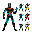 Set of futuristic characters vector image