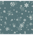 snowflake on winter gray sky background vector image