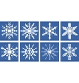Snowflakes icons set flat style Snowflake vector image